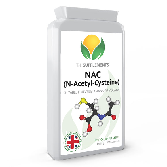 NAC N-Acetyl-Cysteine 600mg 120 Capsules food supplements  a high bioavailability