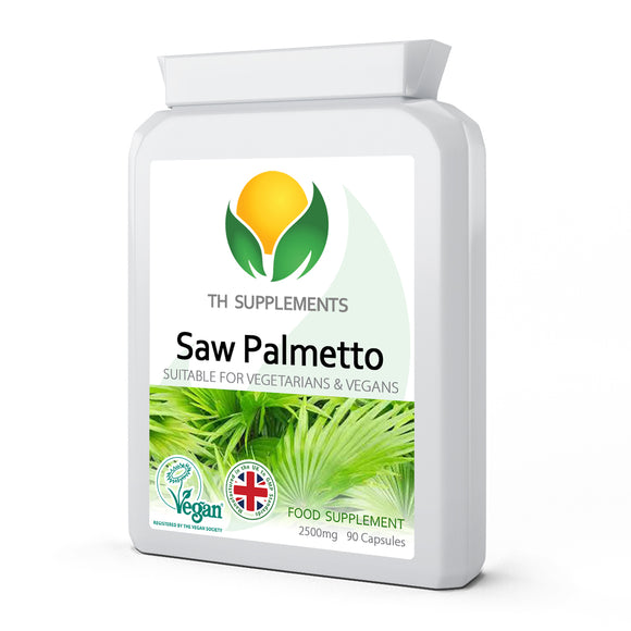 Saw Palmetto 2500mg 90 Capsules food supplement