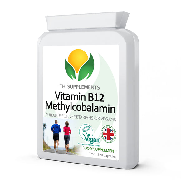 Vitamin B12 Methylcobalamin 1mg 120 Capsules food supplemeny