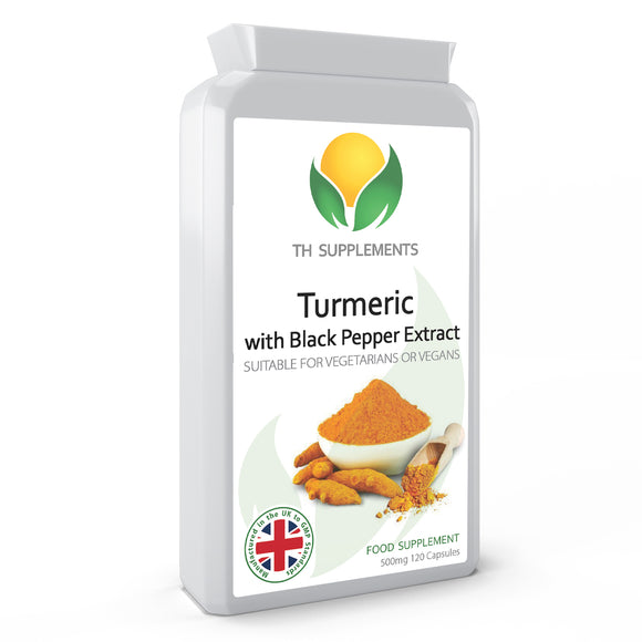Turmeric 500mg with Black Pepper Extract 120 Capsules food supplement