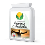 Vitamin D3 Cholecalciferol 1000iu 180 Vegan Tablets food supplement
