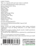 Digest-Zyme Digestive enzime Complex 90 Capsules food supplement with culinary botanicals back label