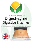 Digest-Zyme Digestive enzime Complex 90 Capsules food supplement with culinary botanicals front label