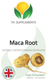 Maca Root 2500mg 120 Capsules Daily food supplement help to support physical & mental health Front label.
