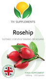 Rosehip Extract 5000mg & Vitamin C 120 Capsules food supplement front label