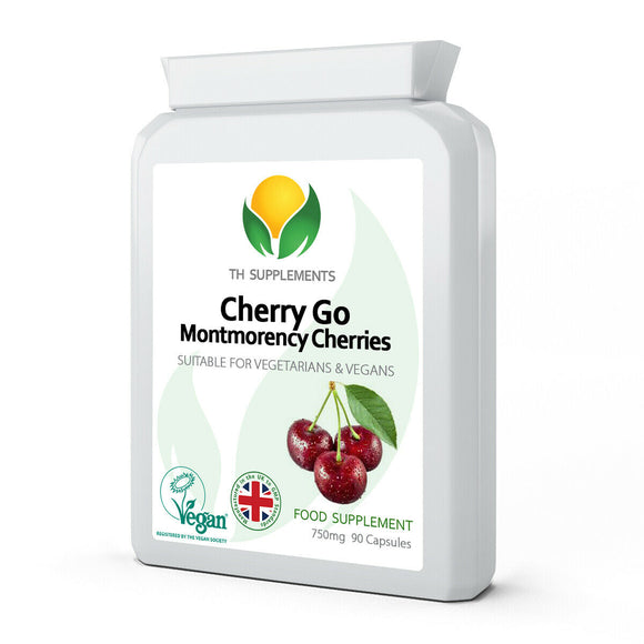 Cherry Go Max Montmorency 750mg 90 Capsules food supplement for healthy urinary system