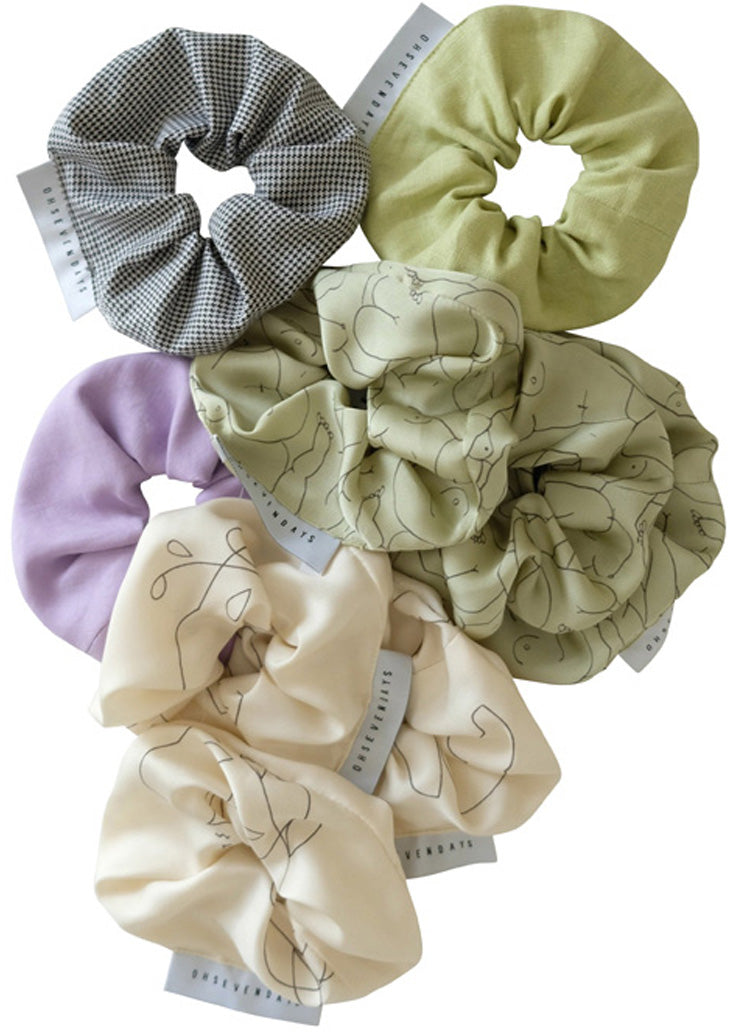 Upcycled Hair Scrunchies - 3 Pack