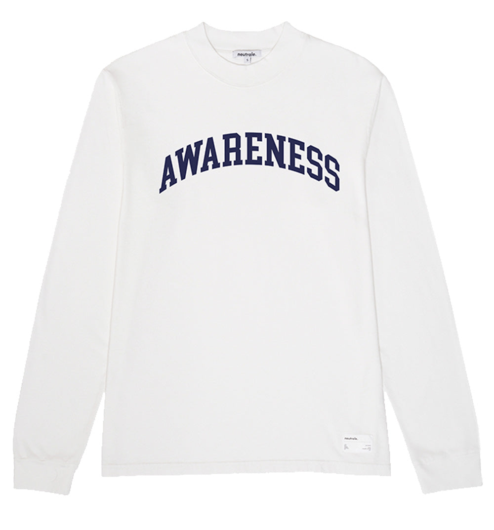 NEUTRALE Organic White Slogan Sweatshirt