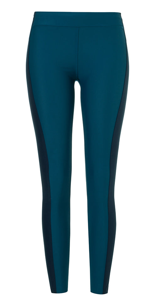 AEANCE Recycled Petrol Blue Long Tights