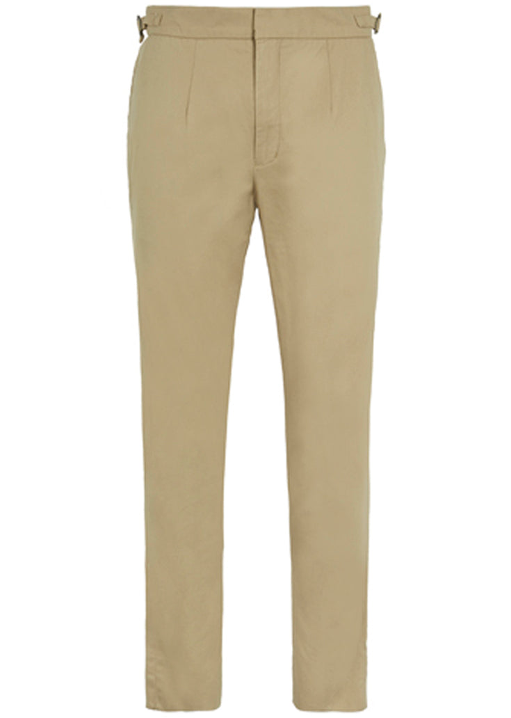 BASIC RIGHTS Tan High Waisted Trousers