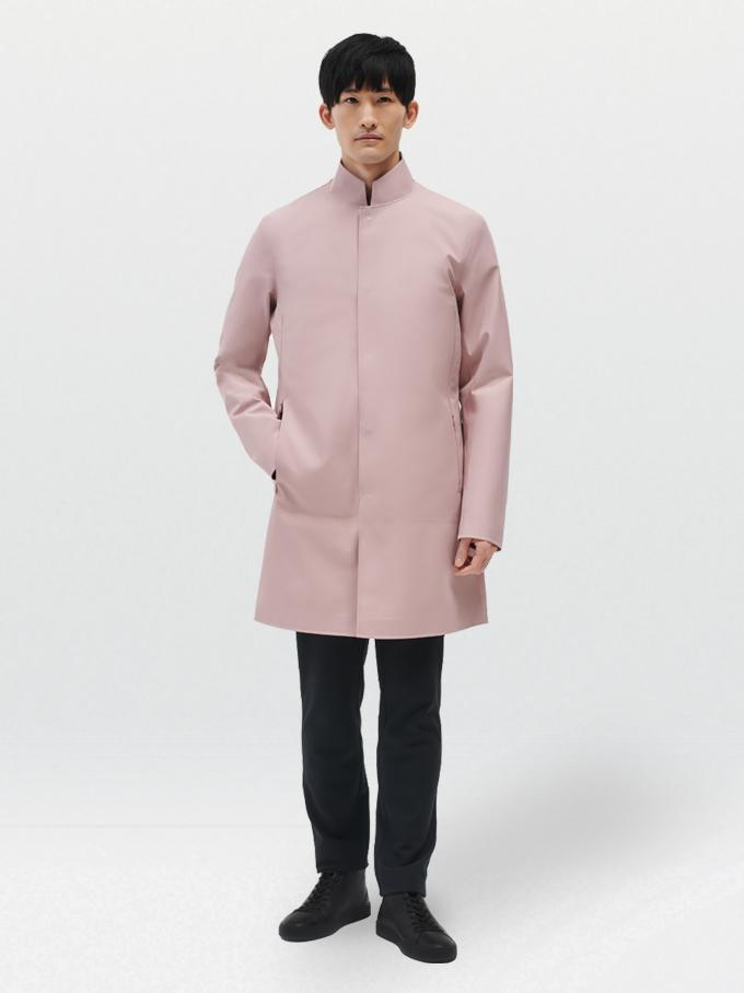 Recycled Pink Waterproof Coat