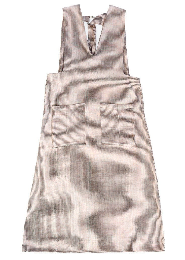 Organic Woven Cream Check Dress