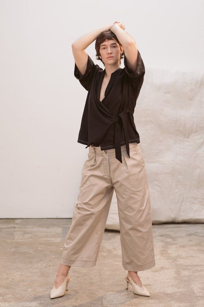 Upcycled Reclaimed Sand Trousers