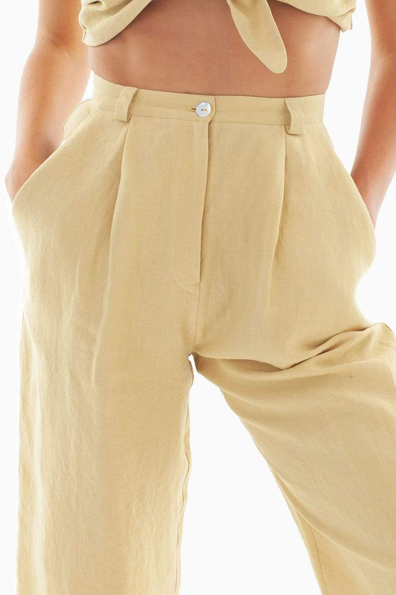 Yellow Linen Trousers