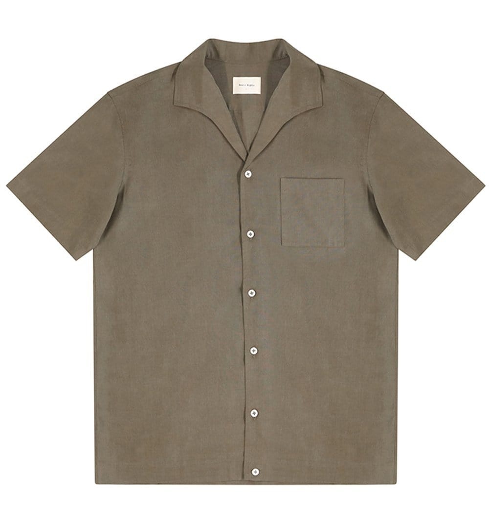 BASIC RIGHTS Green Short Sleeve Shirt