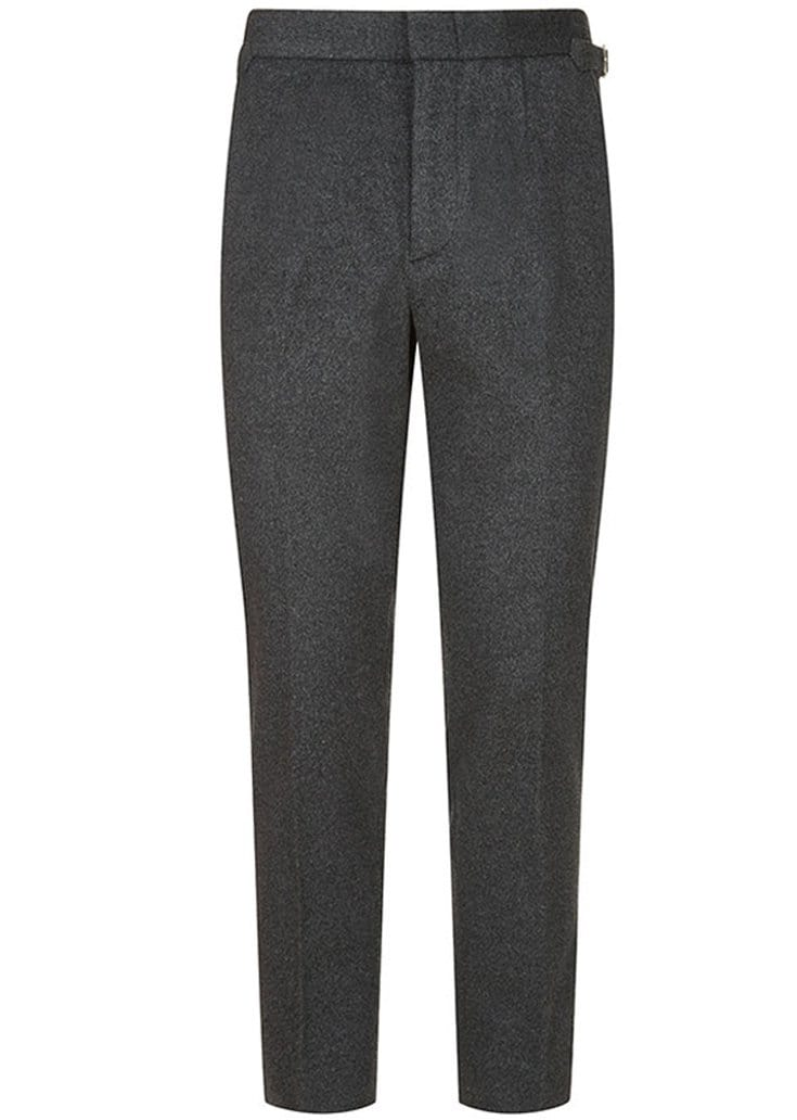 BASIC RIGHTS Grey Wool Trousers SlowCo
