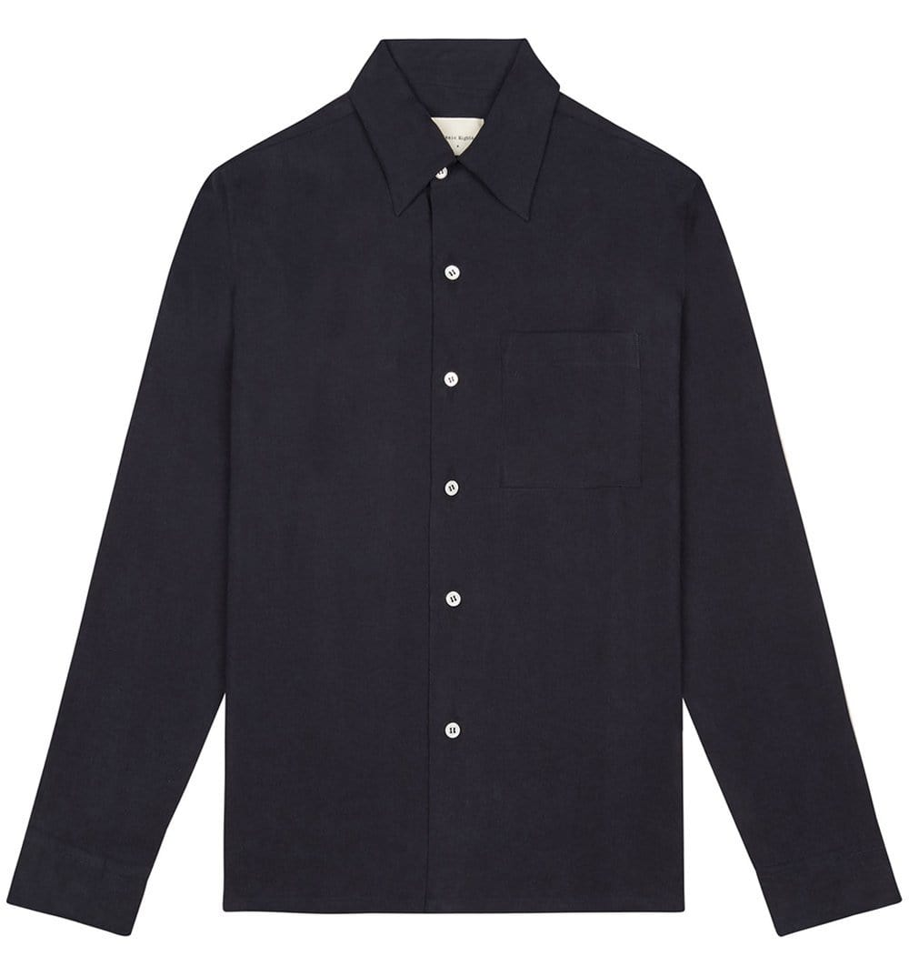 BASIC RIGHTS Navy Pocket Shirt