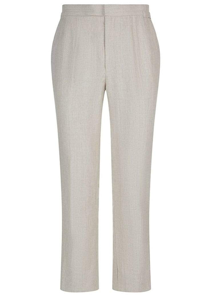 BASIC RIGHTS Stone Linen Trousers SlowCo