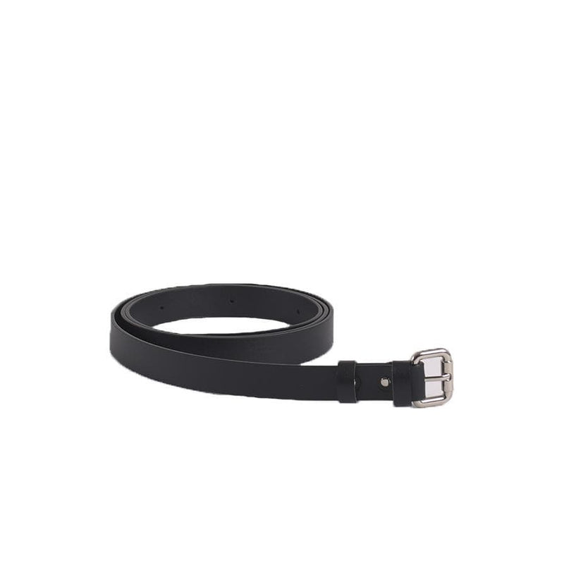 Black Reclaimed Leather Bag Belt