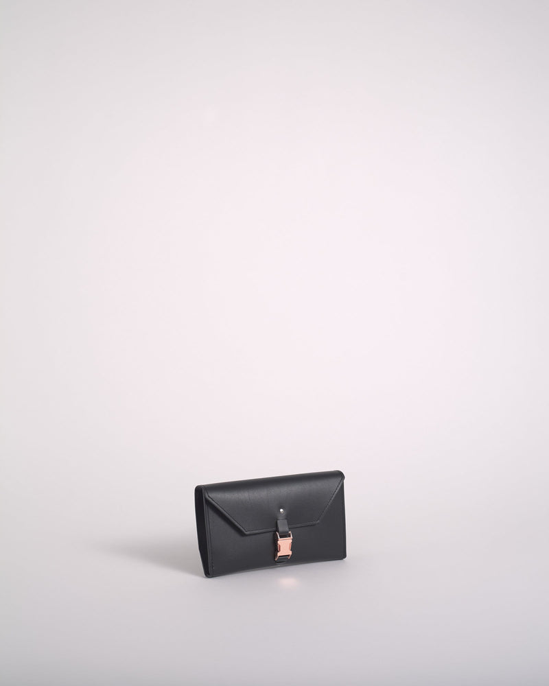 Black Reclaimed Leather Wallet