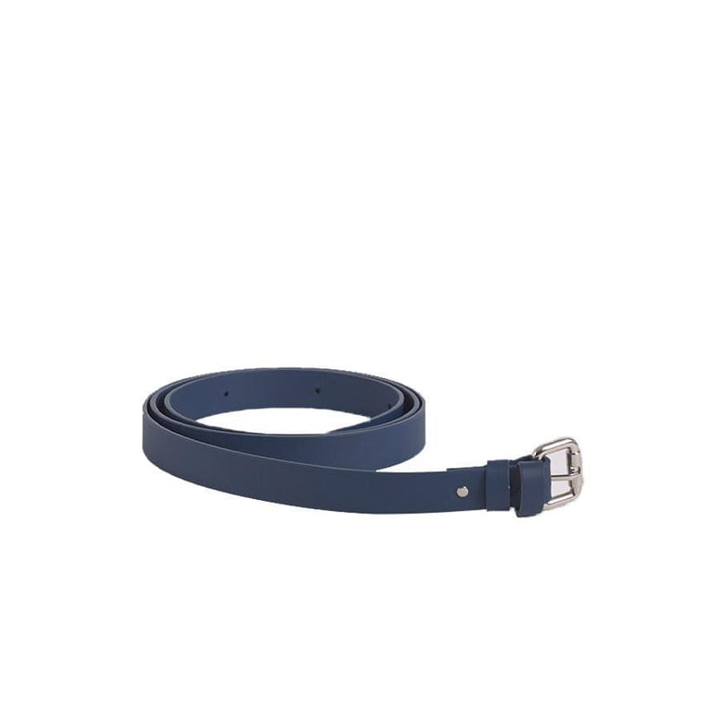 Blue Reclaimed Leather Bag Belt