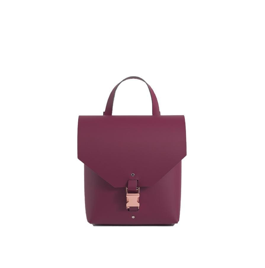 Burgundy Reclaimed Leather Backpack