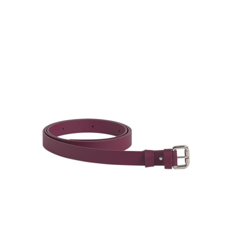 Burgundy Reclaimed Leather Bag Belt