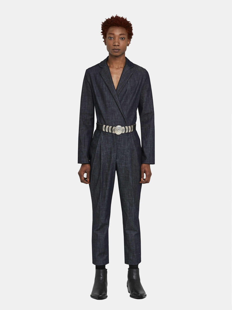 Organic Denim Tailored Jumpsuit