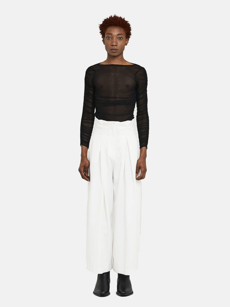 D THE BRAND Organic White Palazzo Pants