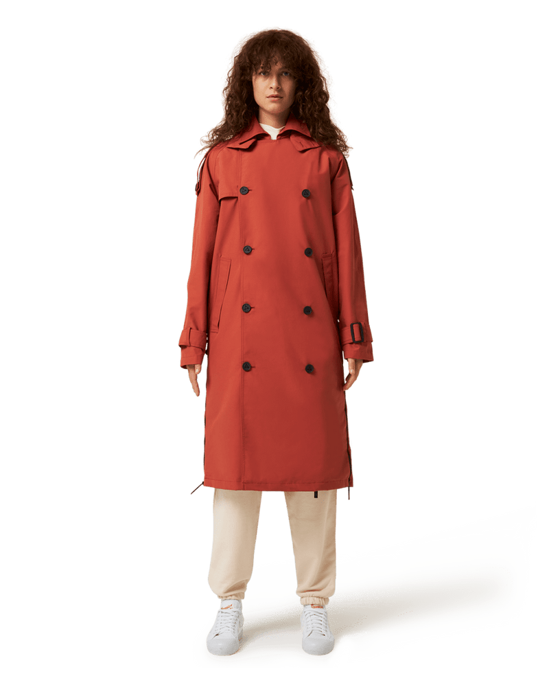 Recycled Red Trench Coat
