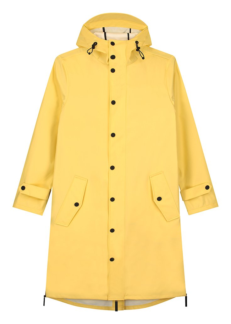 Recycled Yellow Waterproof Raincoat