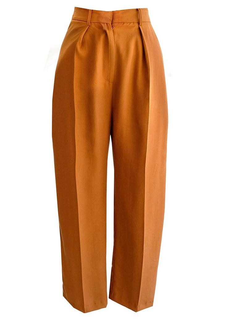 Upcycled Topaz High Waisted Trousers