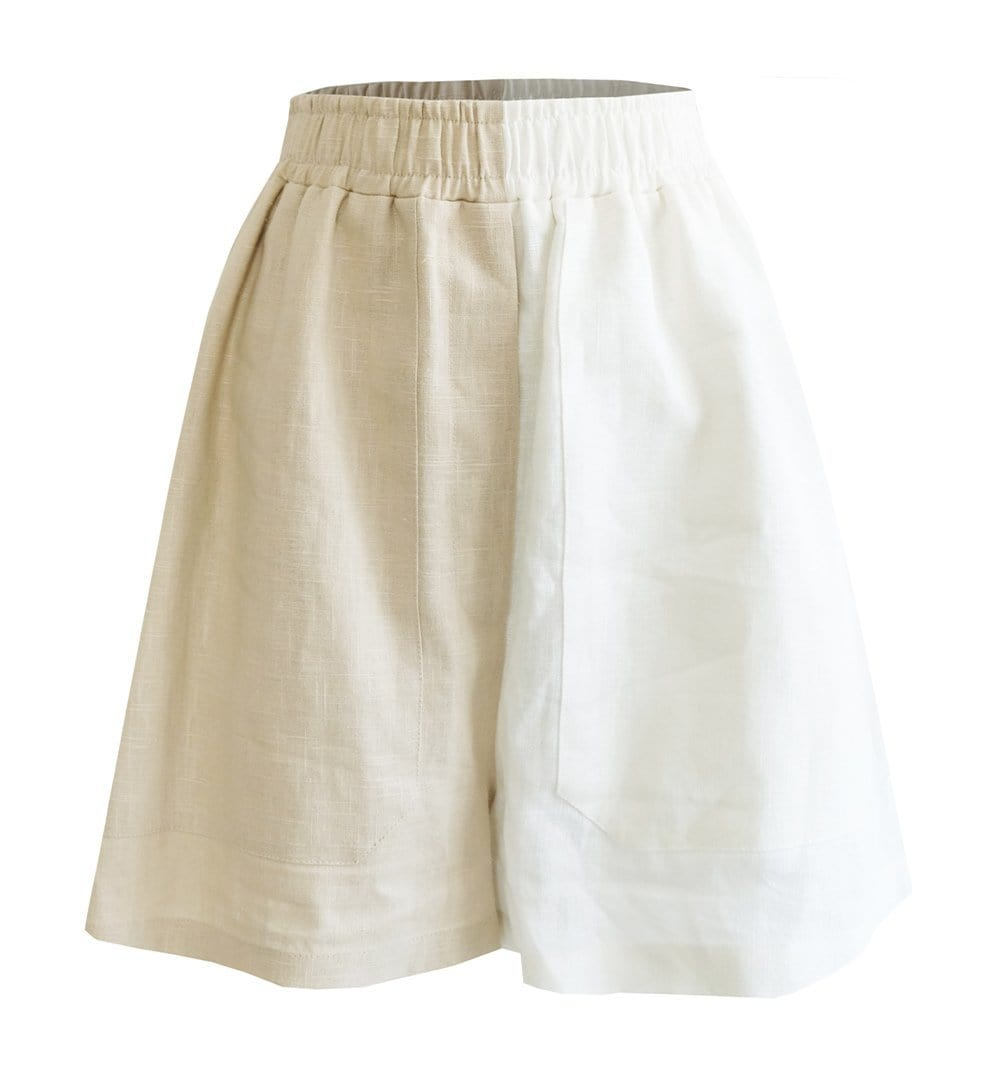 Upcycled Two-Tone Shorts