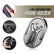 Load image into Gallery viewer, 3 in 1 Air Vent Ring Phone Holder