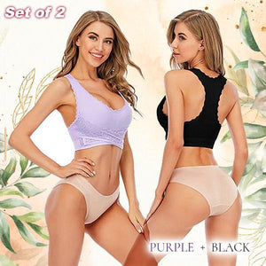 CozyFit™ X-Buckle Lace Supportive Bra