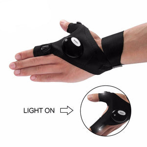 1PCS Fingerless LED Glove