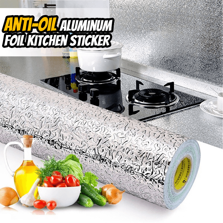 Anti-Oil Aluminum Foil Kitchen Sticker