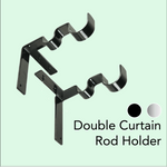 Load image into Gallery viewer, Invisible Curtain Rod Holders