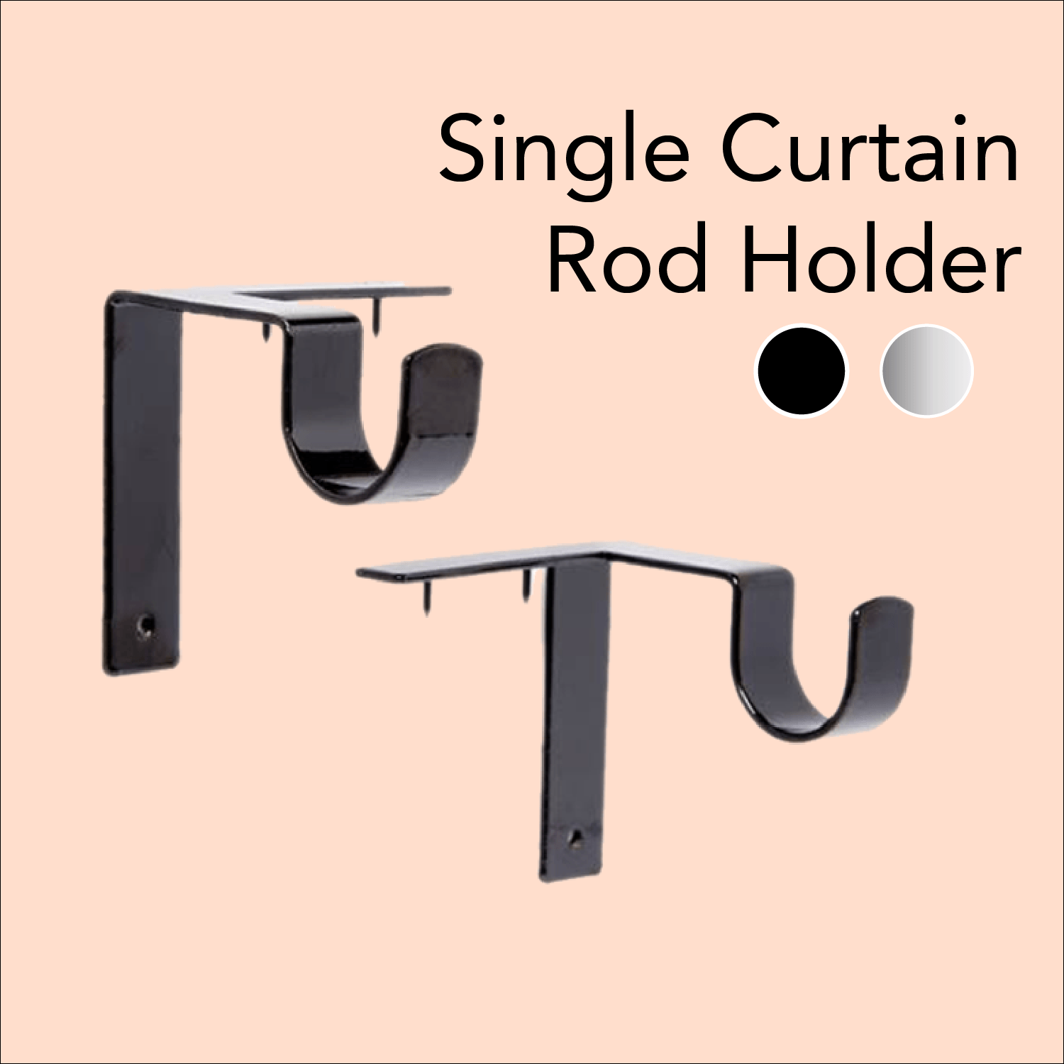 Invisible Curtain Rod Holders