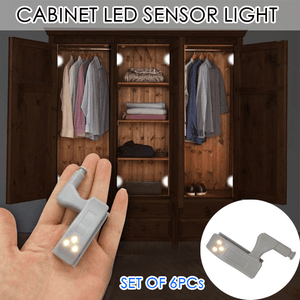 Cabinet LED Sensor Light (Set of 6Pcs)