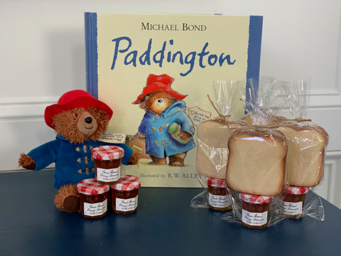 Paddington party favors | marmalade sandwiches cookie kits