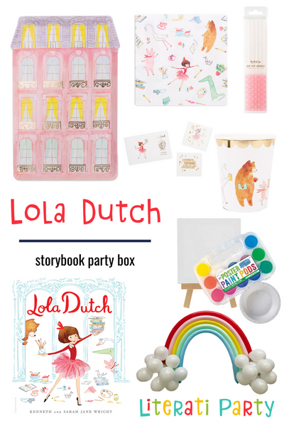 Lola Dutch Storybook complete party in a box