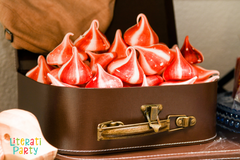 red and white meringue cookies for london themed party