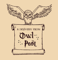 Harry Potter invitation graphic Owl Post