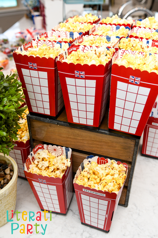 Paddington London telephone booth popcorn boxes