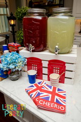 London themed beverage station