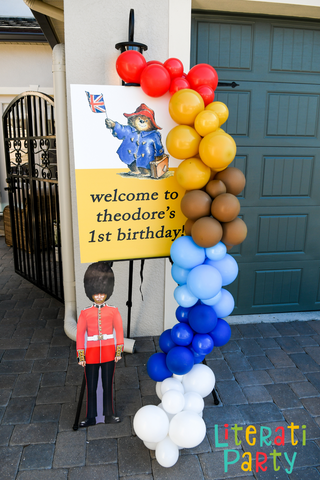 Paddington Bear 1st birthday Welcome sign and decor
