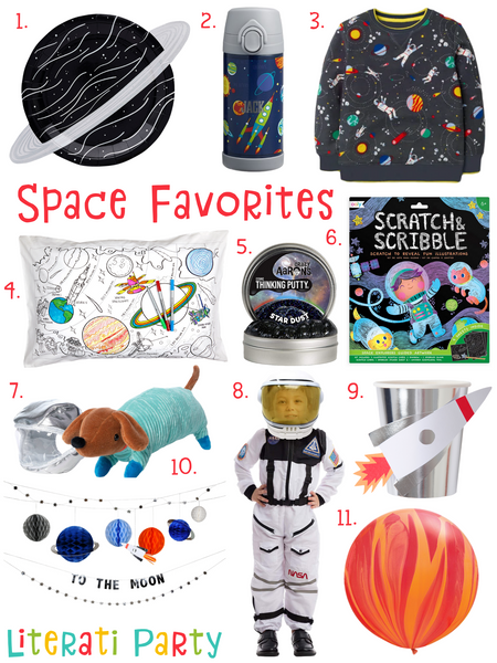 Literati Party's Favorite Space Themed Party Supplies, Toys, Costumes and Clothes