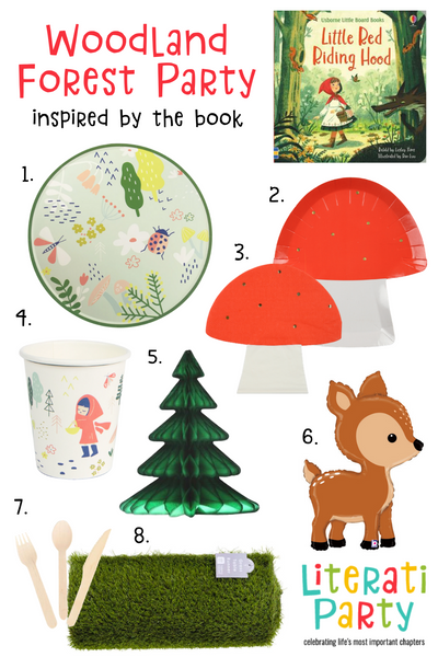 Little Red Riding Hood themed woodland forest birthday party