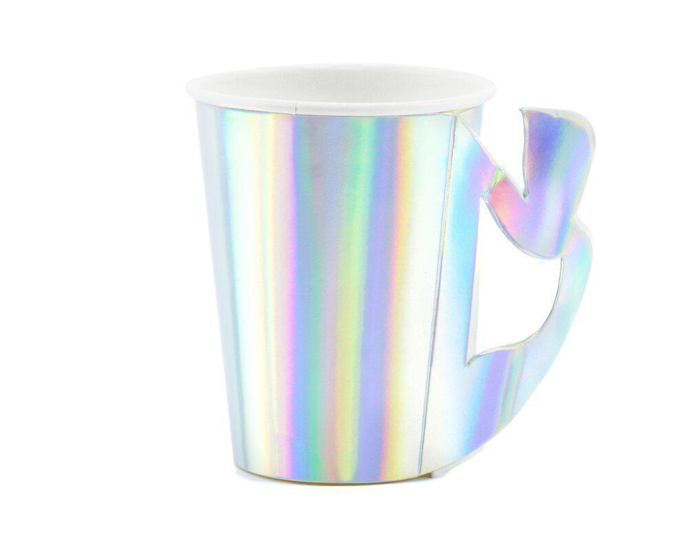 Iridescent Mermaid Tail Cups